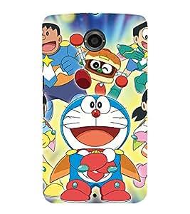 printtech Doraemon Superhero Back Case Cover for Motorola Google Nexus 6