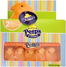 Peeps Marshmallow Chicks with Special Plush Orange 10 Chicks