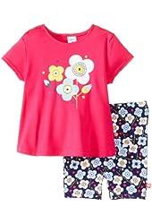 Zutano Baby Girls' Blossom Swing Tee and Bike Short Set