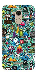 Go Hooked Designer Soft Back cover for Coolpad Note 5 + Free Mobile Stand (Assorted Design)