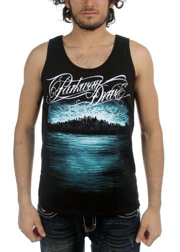 Parkway Drive, da uomo blu scuro Skyline Canotta Black X-Large