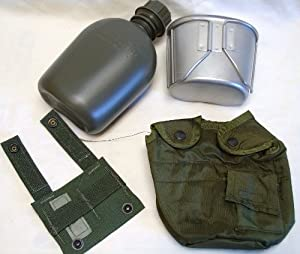 Brand New USGI Canteen with Stainless steel Canteen Cup and Carrier