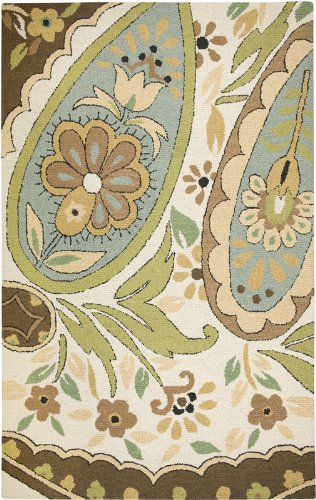 Rizzy Rugs CT-1631 3-Foot-by-5-Foot Country Area Rug, Paisley Beige