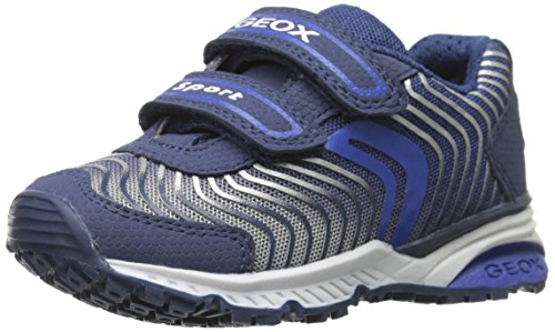 Geox J BERNIE B, Low-Top Sneaker bambino, Blu (Blau (NAVY/ROYALC4226)), 33