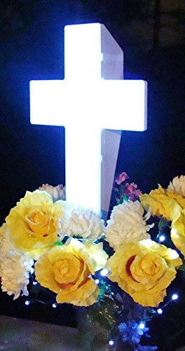 Solar Lighted Cross Powered By God S Light Perfect For