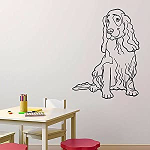 Housewares vinyl decal animals dogs nice cocker spaniel for Dog grooming salon floor plans