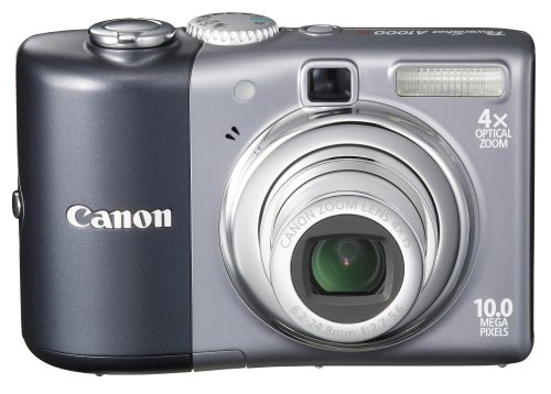 Canon Powershot A1000IS 10MP Digital Camera with 4x Optical Image Stabilized Zoom (Grey)