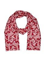 Hackett London Fular Linen Paisley Scf (Rojo)