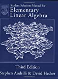 img - for Solutions Manual for Elementary Linear Algebra, Third Edition book / textbook / text book