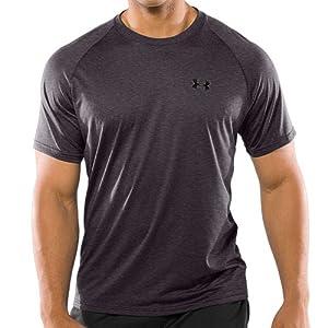 Under Armour S/S Tech T-Shirt - Mens - Carbon Heather/Black