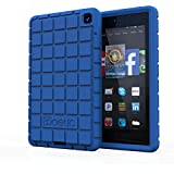 Fire HD 6 Case - Poetic Amazon Fire HD 6 Case [GraphGrip Series] - Protective Silicone Skin Case for Amazon Kindle Fire HD 6 (2014) Blue (3-Year Manufacturer Warranty from Poetic)
