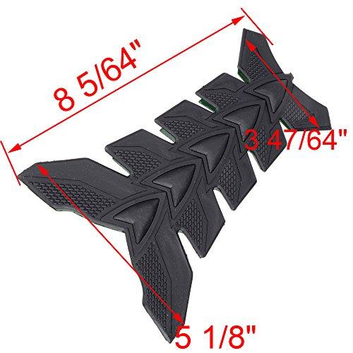 Gas Tank Size Malaysia >> 1pcs Motorcycle 3D Black Rubber Pattern Tank Protector Cover Pad for Honda Suzuki Kawasaki ...