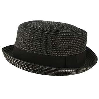 Cool Summer Straw Pork Pie Derby Fedora Upturn Brim Hat: Clothing