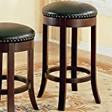 Coaster 101060 Swivel Bar Stool with Upholstered Seat, 29-Inch, Set of 2