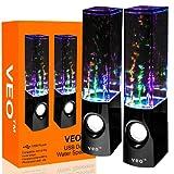 VEO | USB Dancing Water Speakers - Desktop Speakers for PC, Mac, MP3 Players, Mobile Phones inc. iPhone & Tablets, iPad 4, iPad Air, iPad 5, iPhone 6, iPhone 5s, iPhone 5c - BLACK