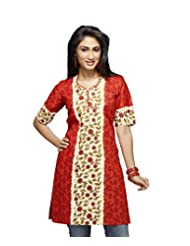Karishma Suits Womens Cotton Dress Material (Klvpg24 -Orange -Free Size)