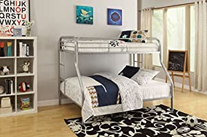 ACME Furniture 02052SI Tritan Bunk Bed, Twin X-Large/Queen, Silver