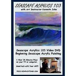 Seascape Acrylics Painting 103