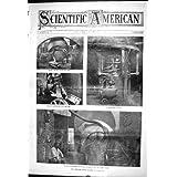 Impresión Antigua del Americano Científico del Hierro 1903 del Horno del Azufre del Proceso del Cobre de Bessemer...