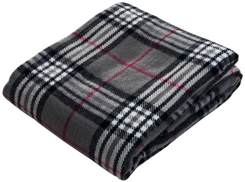 Lavish Home Throw Blanket, Cashmere-Like, Grey front-772544