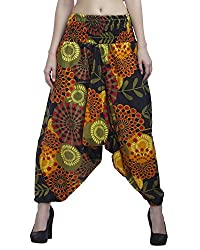 Indi Bargain Women's Cotton Multi color Printed Alibaba or Afghani Trouser