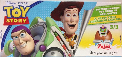 2 Boxes (6 Eggs) Disney Pixar Toy Story Chocolate