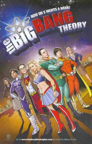 The Big Bang Theory: NBC TV: Super-Heroes Sheldon Copper, Leonard, Penny: Great Original Print Ad! (Big Bang Theory Penny Poster compare prices)