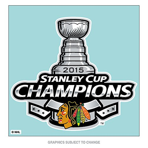Chicago Blackhawks Official NHL 8 inch x 8 inch 2015 Stanley Cup Champions Perfect Cut Car Decal by Wincraft 097446