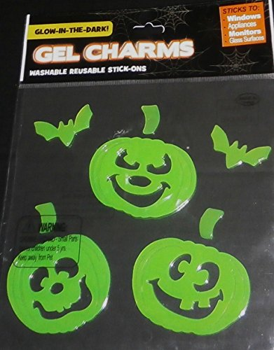 Fall/Halloween Gel Window Stick -Ons SMILING PUMPKINS (Scary Smiling Clown)