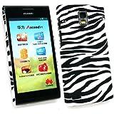 Emartbuy ® Huawei Ascend P1 Zebra Schwarz / Weiß Clip On Protection Case / Cover / Skin