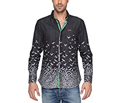 Copperstone Men's Casual Shirt (8903944598997_Black_X-Large)