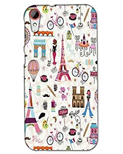HTC 830 Back Cover Designer Hard Case Printed Cover