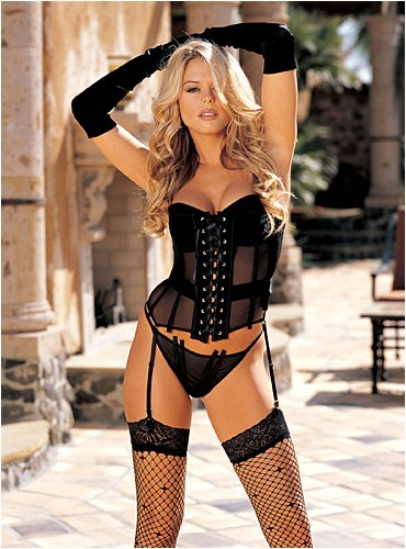 Shirley of Hollywood Stretch Mesh Solid Bustier