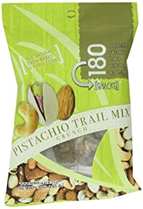 180 Snack Trail Mix Crunch, Pistachio, 3-Ounce Pouches (Pack of 8) by MarebluNaturals