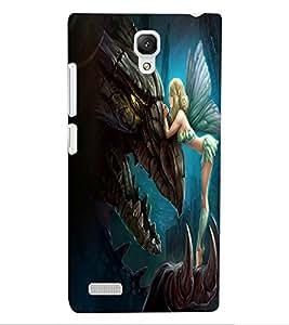 ColourCraft Angel Design Back Case Cover for XIAOMI REDMI NOTE 4G