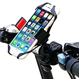 Bike Mount, Ipow Universal Cell Phone Bicycle Rack Handlebar & Motorcycle Holder Cradle for iPhone 6 6(+) 6S 6S plus 5S 5C, Samsung Galaxy S3 S4 S5 S6 S7 Note 3/4/5,Nexus,HTC,LG,BlackBerry,Black