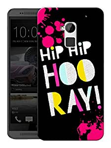 """Humor Gang Hip Hip Hooray Happy Quote Printed Designer Mobile Back Cover For """"HTC ONE MAX"""" (3D, Matte Finish, Premium Quality, Protective Snap On Slim Hard Phone Case, Multi Color)"""