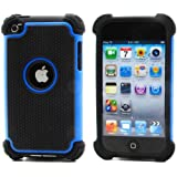 BZ Gadget Shock Proof Case Cover for Apple iPod Touch 4G 4th Generation (Blue) + BZ Gadget Cleaning Cloth