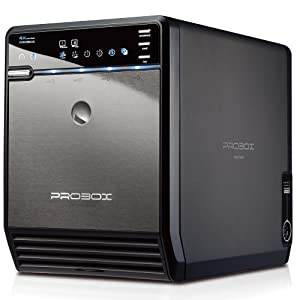 "Mediasonic ProBox HF2-SU3S2 4 Bay 3.5"" Hard Drive Enclosure - USB 3.0 & eSATA, Support SATA 3 6.0Gbps hard drive transfer rate from Mediasonic"