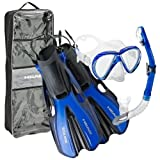 Head by Mares Volo One Fins Mask Snorkel Set with Travel Bag, BL-LG