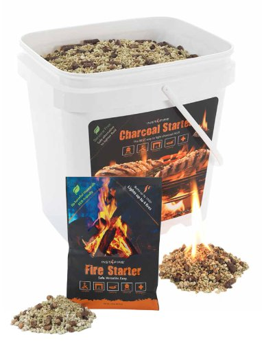 InstaFire Bulk Charcoal Briquette Starter, 2-Gallon Bucket and 1 Pack of Fire Starter picture