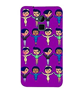 PrintVisa Cute Cartoon Art Print & Pattern Couples 3D Hard Polycarbonate Designer Back Case Cover for HTC One Max