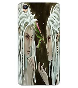 ColourCraft Angel Design Back Case Cover for OPPO F1 PLUS