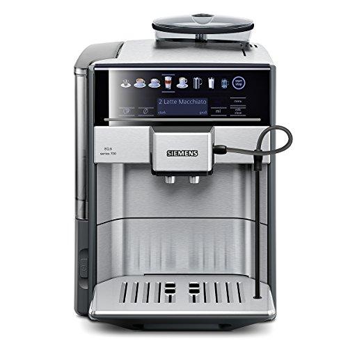 Siemens TE607503DE Kaffeevollautomat EQ.6 series 700 (19 bar, Direktanwahl durch Sensorfelder, oneTouch DoubleCup, Cappuccinatore) Edelstahl thumbnail