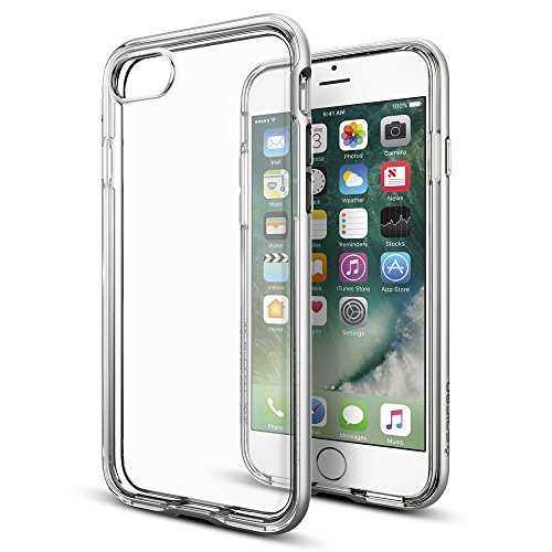 iPhone-7-Case-Spigen-Neo-Hybrid-Crystal-PREMIUM-BUMPER-Satin-Silver-Clear-TPU-PC-Frame-Slim-Dual-Layer-Premium-Case-for-Apple-iPhone-7-042CS20676