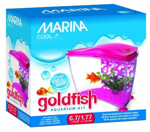 Marina Cool Goldfish Kit, Pink, Small/1.77-Gallon