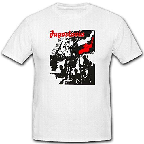 jugosl-avia-1945-escudo-nadadores-militar-wk-aliado-allierte-rusia-camiseta-3289-weiss-xx-large