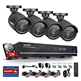 Annke 8CH 720P AHD DVR 1TB HDD with 4x 1.0MP CCTV Camera System