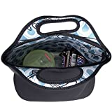 COOWIND Neoprene Lunch Bag, with Heavy-Duty Zipper,Large & Thick Insulated Neoprene Tote,Black 13 x 12.5 x 6.5 inches