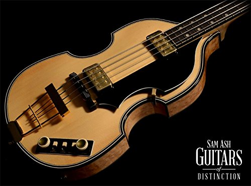 Hofner H5000/1 Deluxe Violin Bass Electric Bass Guitar (Natural, Sn:M0G1G6)